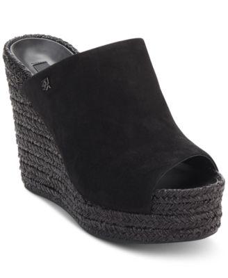 macy's black platform sandals