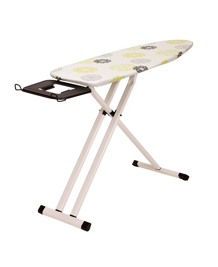 Household Essentials - Perfect Steel Top Aluminum Leg Ironing Board, Wide Top