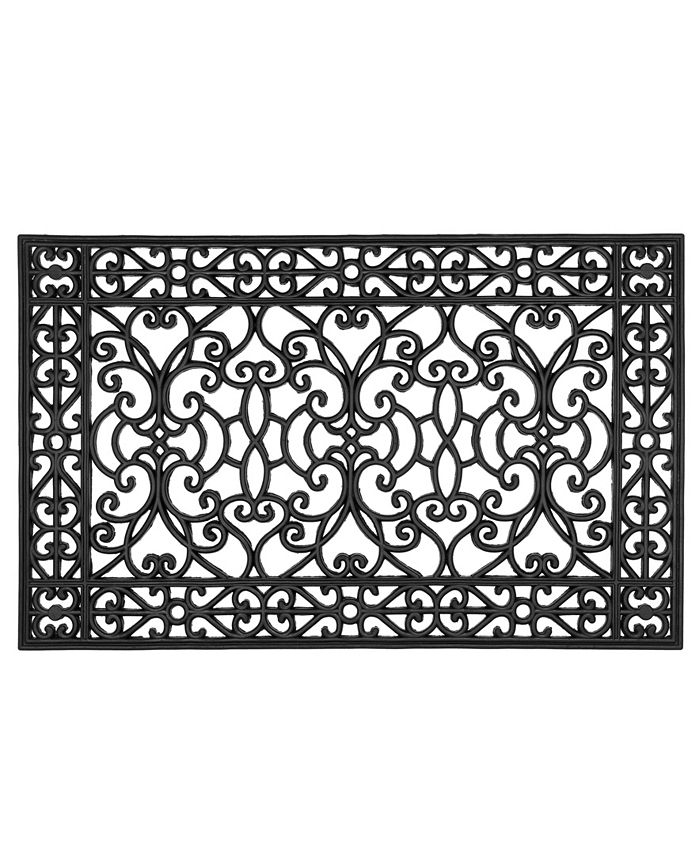 """Home & More - Anastasia 30"""" x 48"""" Rubber Doormat"""