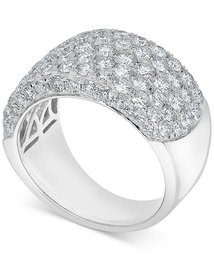 Macy's - Diamond Cluster Statement Ring (3-3/4 ct. t.w.) in 14k White Gold