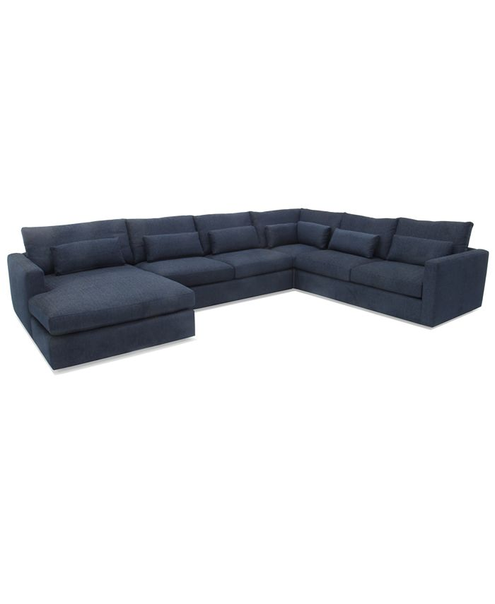 Hotel Collection - Canillo 4-Pc. Fabric Chaise Sectional Sofa