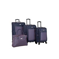 Deals on Isaac Mizrahi Soho 4 Piece Spinner Luggage Set