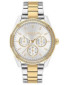 COACH Women's Preston Two-Tone Stainless Steel Bracelet Watch 36mm