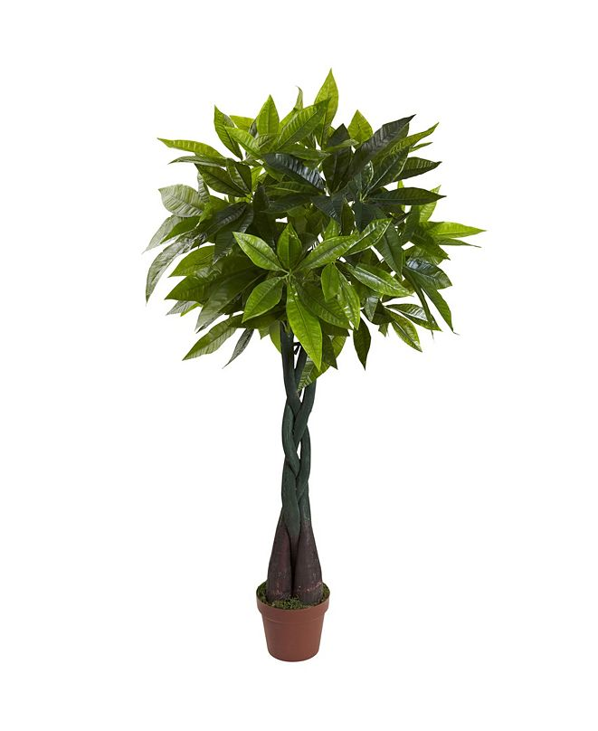 Nearly Natural 4' Money Plant - Real Touch