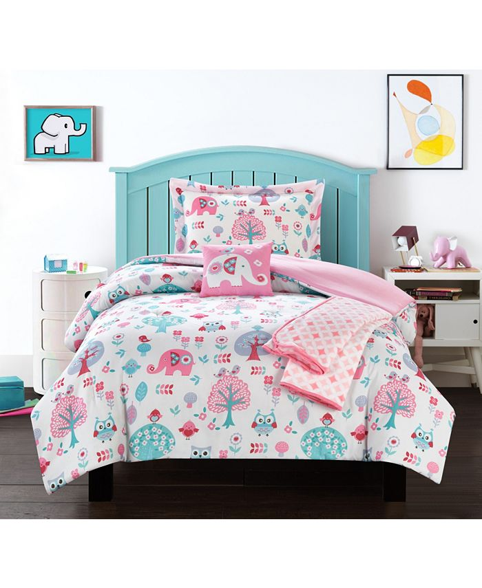 Chic Home - Elephant Garden 5-Pc. Comforter Sets
