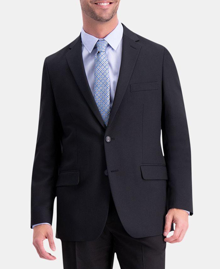 Haggar - Men's Active Series Herringbone Classic-Fit Suit Jacket