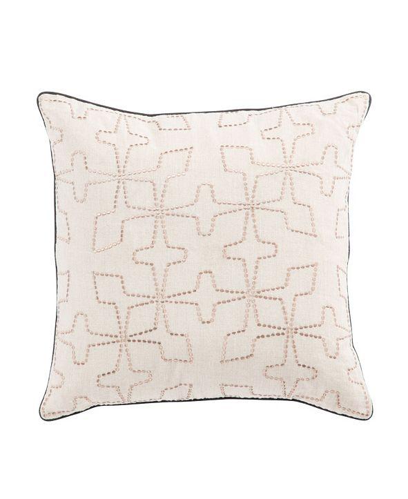 "Jaipur Living Nikki Chu By Greta Cream/Beige Geometric Down Throw Pillow 22"""