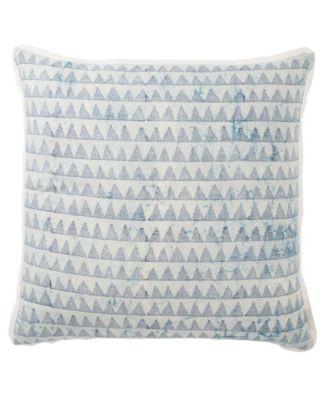 Yonah Handmade Geometric Blue/White Down Throw Pillow 22