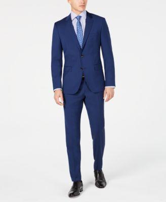 Men's Modern-Fit Wool Suit Pants