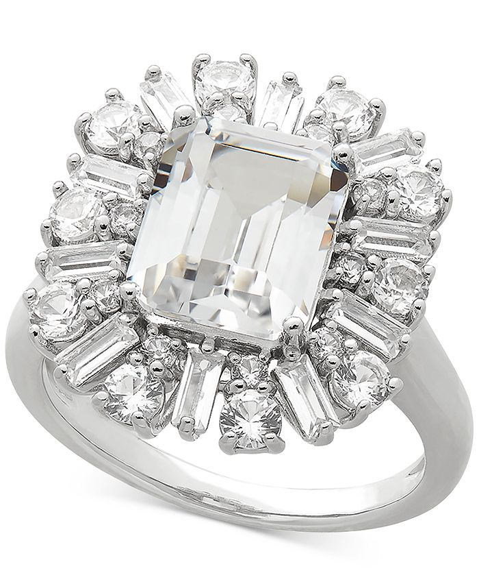 Arabella - Cubic Zirconia Statement Ring in Sterling Silver