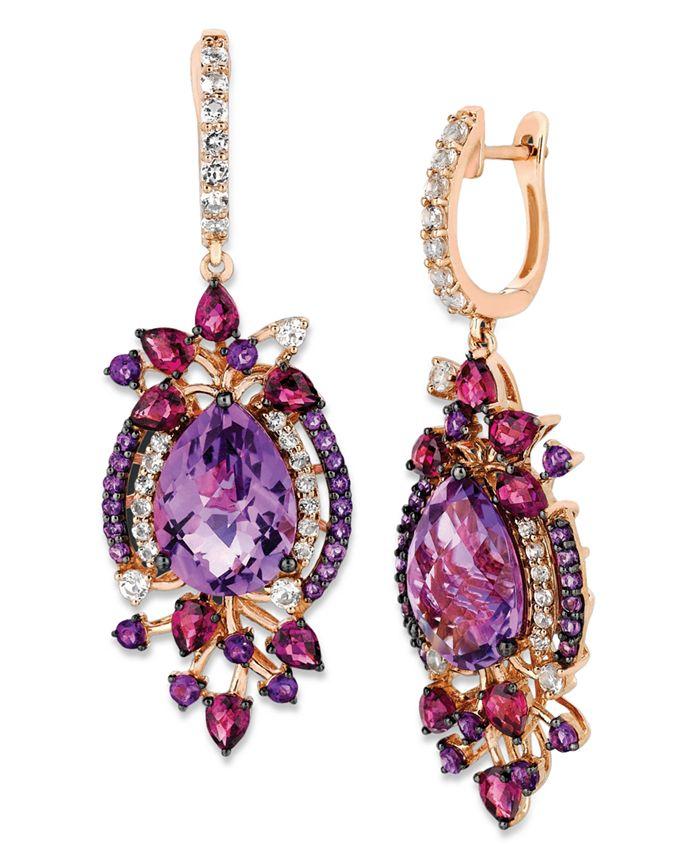 Le Vian - Multistone Drop Earrings in 14k Rose Gold (13-1/2 ct. t.w.)