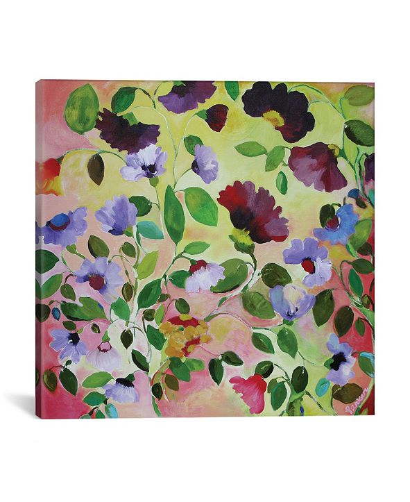 """iCanvas """"Morning Glories"""" By Kim Parker Gallery-Wrapped Canvas Print - 12"""" x 12"""" x 0.75"""""""