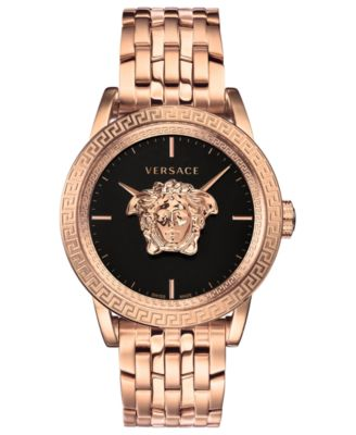 acumular Bolsa de múltiples fines  Versace Men's Swiss Palazzo Empire Rose Gold Ion-Plated Bracelet Watch 43mm  & Reviews - All Fine Jewelry - Jewelry & Watches - Macy's