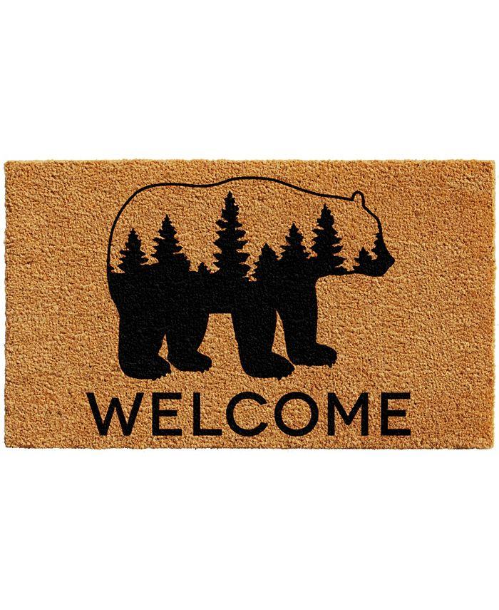 "Home & More - Bear Country 24"" x 36"" Coir/Vinyl Doormat"