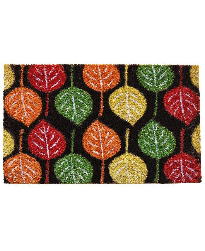 "Home & More - Broad Leaf Beauty 17"" x 29"" Coir/Vinyl Doormat"