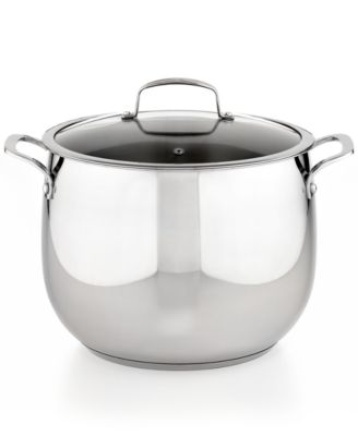 CLOSEOUT! Belgique Stainless Steel 12 Qt. Covered Stockpot