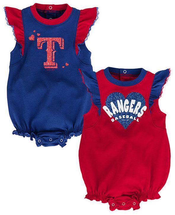 Outerstuff Baby Texas Rangers Double Trouble Bodysuit Set