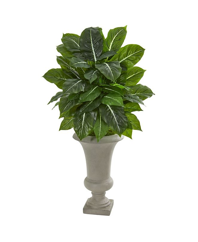 """Nearly Natural 35"""" Evergreen Artificial Plant in Sandstone Urn (Real Touch)"""