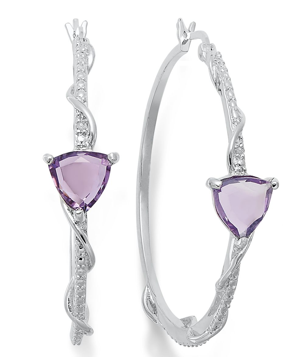Victoria Townsend Sterling Silver Earrings, Amethyst (5 ct. t.w.) and