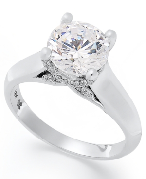 X3 Certified Diamond Solitaire Engagement Ring in 18k White Gold (2 ct. t.w.)