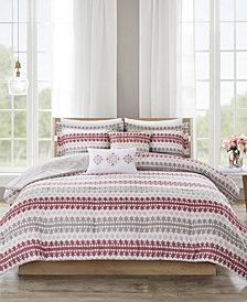 510 Design Neda Full/Queen 5 Piece Reversible Print Comforter Set
