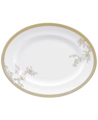 Vera Wang Wedgwood Dinnerware, Lace Gold Oval Platter