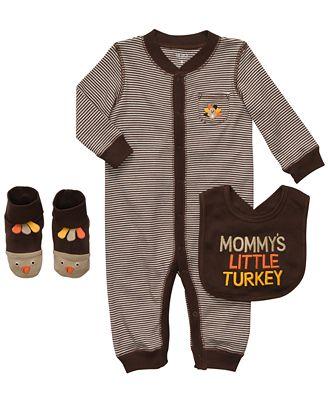 Carters baby set baby boys mommy s little turkey thanksgiving 3 piece set kids macy s