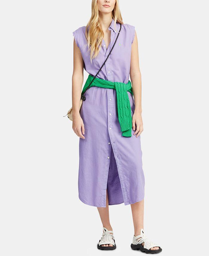 Polo Ralph Lauren Sleeveless Cotton Oxford Shirtdress & Reviews ...