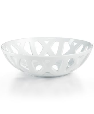 CLOSEOUT! The Cellar Whiteware Pierced Bread Basket