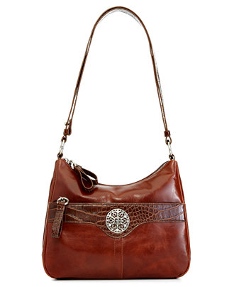 Giani Bernini Florentine Glazed Leather Hobo