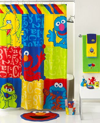 Jay Franco Bath Sesame Street Retro Shower Curtain