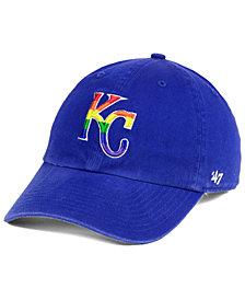 '47 Brand Kansas City Royals Pride CLEAN UP Strapback Cap