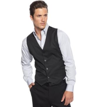 Calvin Klein Vests, Pinstripe Vest