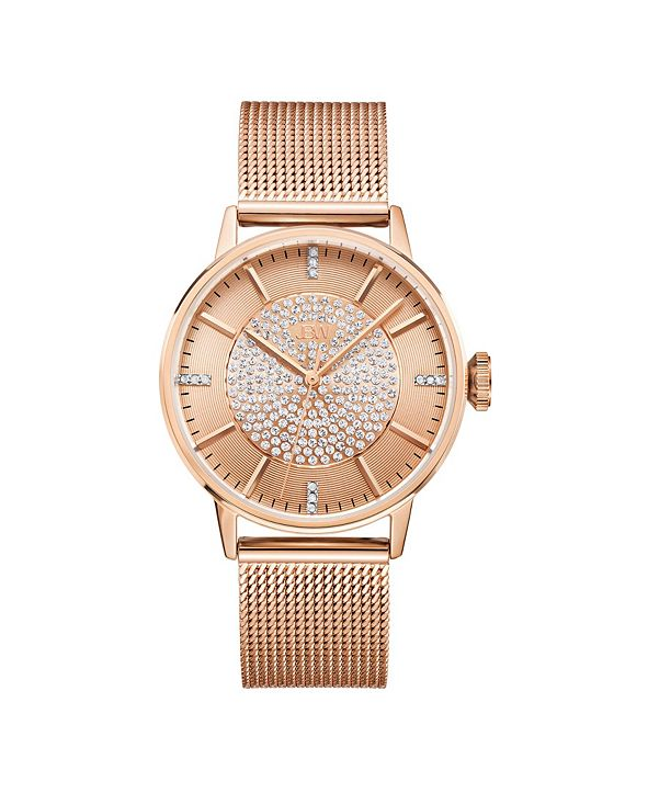 Jbw Women's Belle Diamond (1/8 ct.t.w.) 18K Rose Gold Plated Stainless Steel Watch
