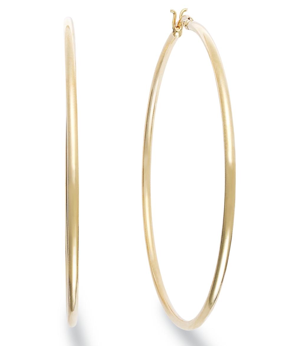 Giani Bernini 24k Gold over Sterling Silver Earrings, Large Hoop Earrings   Earrings   Jewelry & Watches