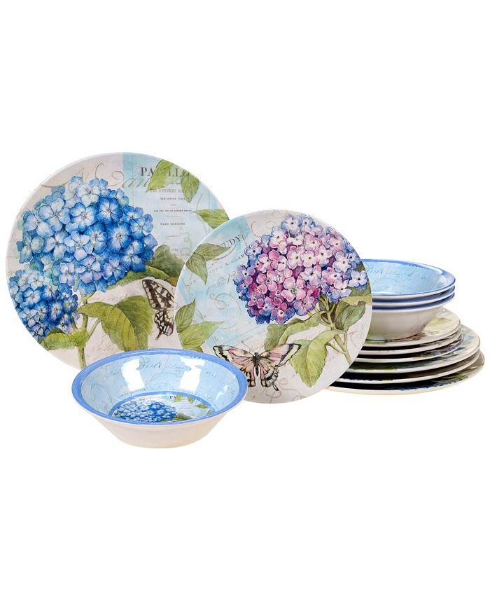 Certified International - Hydrangea Garden 12-Pc. Dinnerware Set