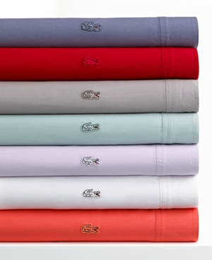 Lacoste Bedding, Brushed Twill Twin XL Sheet Set Bedding