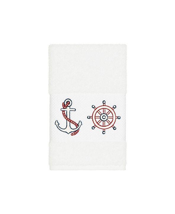 Linum Home Turkish Cotton Easton Embellished Hand Towel