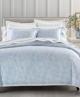 Sleep Luxe Cotton 800-Thread Count 2-Pc. Printed Twin Duvet Cover Set, Created for Macy's