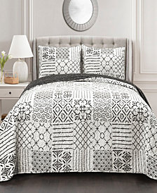 Monique Reversible 3-Piece King Quilt Set