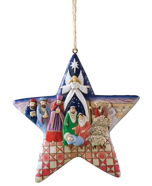 Enesco Jim Shore Nativity Star Ornament