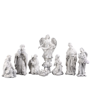 Napco Nativity Scene, Antique White 8 Piece Set