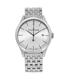 Alexander Watch A911B-04, Stainless Steel Case on Stainless Steel Bracelet