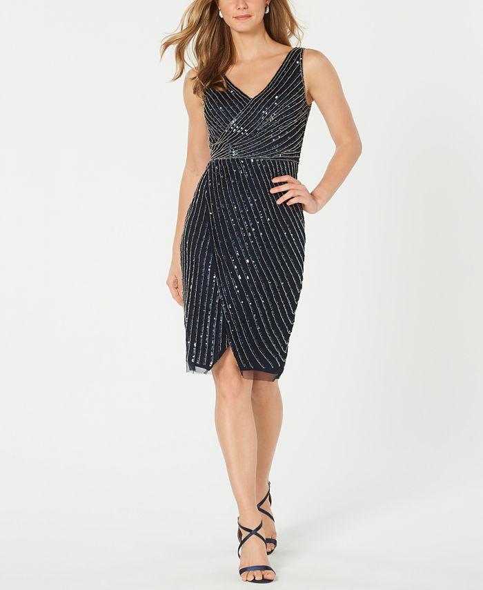 Adrianna Papell - Embellished Cutaway Sheath Dress