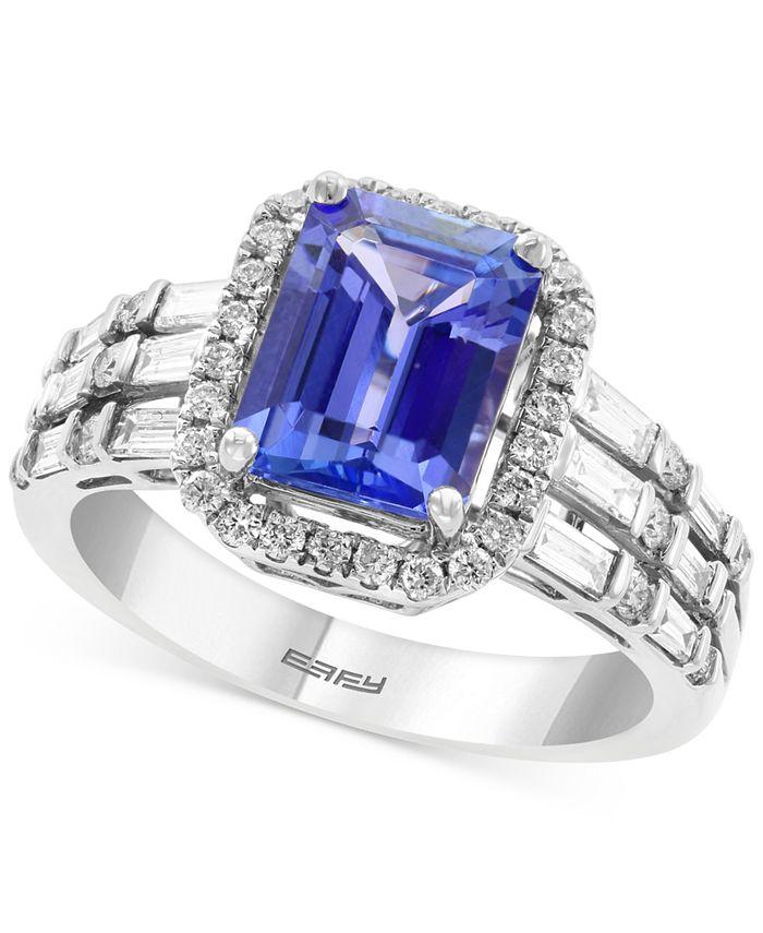 EFFY Collection - Tanzanite (2-1/10 ct. t.w.) & Diamond (5/8 ct. t.w.) Statement Ring in 14k White Gold