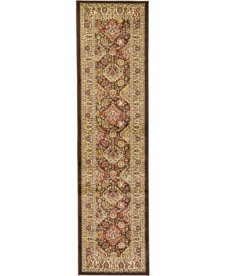 "Passage Psg7 Brown 2' 7"" x 10' Runner Area Rug"
