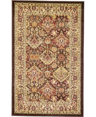 "Passage Psg7 Brown 3' 3"" x 5' 3"" Area Rug"