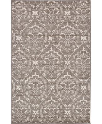 Felipe Fel2 Light Brown 5' x 8' Area Rug