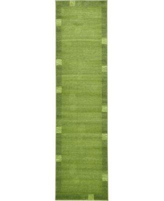"Lyon Lyo1 Green 2' 7"" x 10' Runner Area Rug"