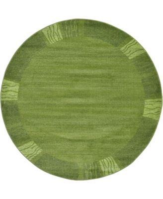 Lyon Lyo1 Green 6' x 6' Round Area Rug